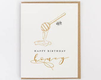 happy birthday honey greeting card