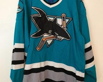 Vtg 90's Starter San Jose Sharks NHL Hockey Jersey Sz M