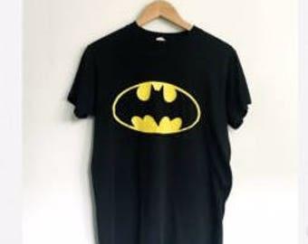 Vintage Batman Shirt Tee 1989 89 Michael Keaton Jack Nicholson Movie DC Comics Logo