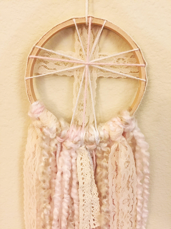 Little Cross Dreamcatcher | Pink, Blue, or Purple | Handmade ...