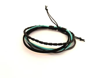 Adjustable mens bracelet