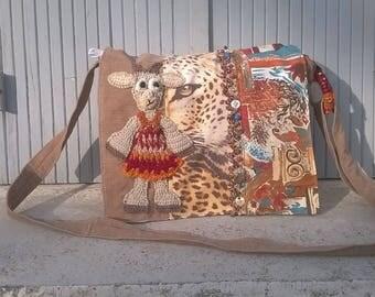 "Bag, ""which will make you goat!"",""biquette in safari grrrrrr biquette crochet pattern"