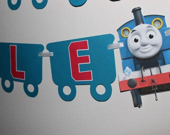 Thomas the Train Banner, Thomas the Train Birthday, Train Party, Railroad, Train Banner