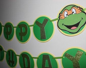 Teenage Mutant Ninja Turtles, TMNT Banner, Ninja Turtles Banner, Ninja Turtles Birthday Party