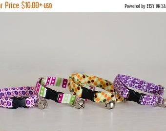 Cat Collar-Breakaway Cat Collar-Girl Cat Collar-Purple Cat Collar-Polka Dot Cat Collar-Stripe Cat Collar-Fashion Cat Collar-Cute Cat Collar
