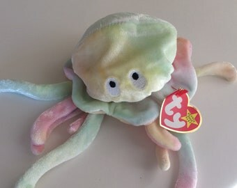 TY Beanie Baby Goochy the Octopus  MWT Original Size MWT Date of Birth November 18, 1998