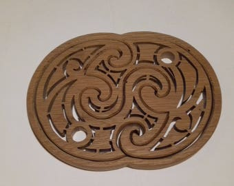 trivet and wood decor item