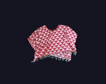 Poncho, shawl, cloth, with fringes, ibiza boho look