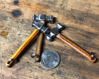 Blacksmiths rounding hammer pendant