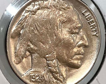 1924 P Buffalo Nickel - Choice BU / MS / Unc