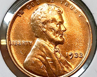 1933 P Lincoln Wheat Cents - Choice BU / MS RD / Unc