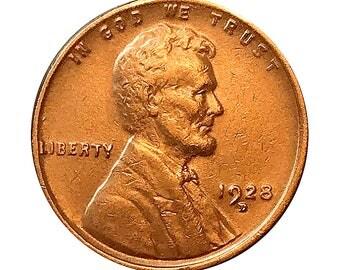 1928 D Lincoln Wheat Cent - AU / BU