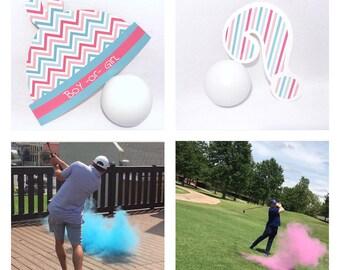 Ships next day! Golf Balls Gender Reveal Golf Ball Gender Reveal Ideas Gender Reveal Golf Balls Gender Reveal Ideas