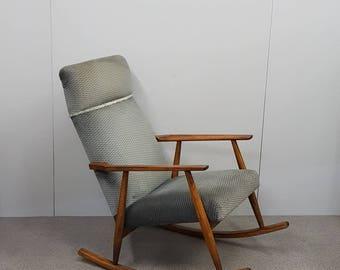 MID CENTURY ROCKING Chair - classic - Danish modern - Wegner - Juhl era - 60's