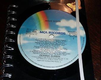 Retro Vinyl Record Note book