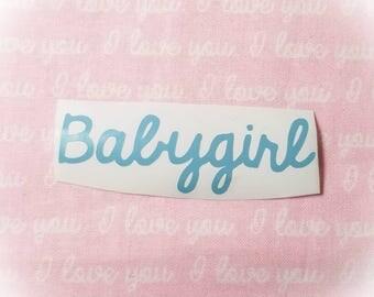 "Babygirl Light Blue 3"" Vinyl Sticker"