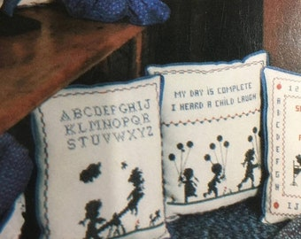 """SPRINGSALE Vintage 1983 The Stitching Post """"Country Samplers"""" Counted Cross Stitch Pattern Book 7"""