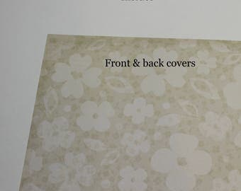 flowers Planner Cover Custom, Happy planner cover, ARC cover, Discbound, Any size, custom planner cover  floral
