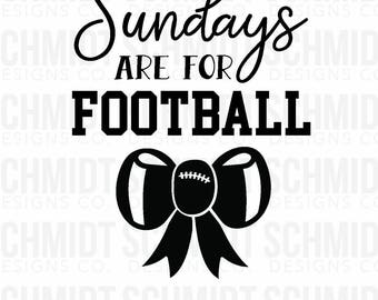 Sundays are for Football - Iron on or Stick on Decals