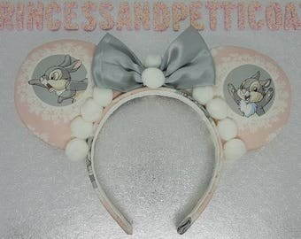 Thumper Inspired Mouse Ears Headband and Bow by PrincessandPetticoat