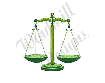 Scales Of Justice - Machine Embroidery Design