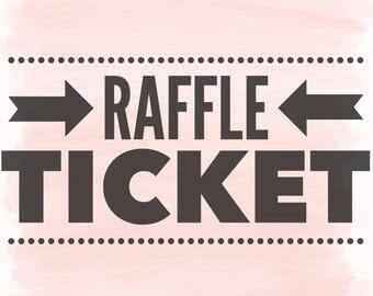 Raffle Ticket for Lets Help Houston - Raffle - Raffle Tickets - Houston Strong - Wood Signs