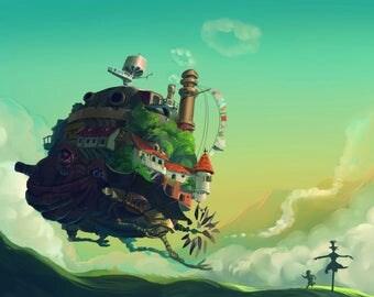 Studio Ghibli Howls Moving Castle (A0, A1, A2, A3, A4)