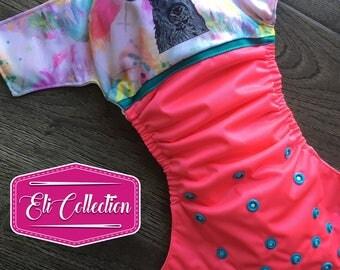 Pre-order cloth diaper - Cloth diaper pink deer