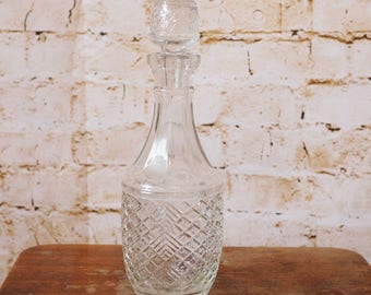 Small 1950's Pressed Glass Decanter