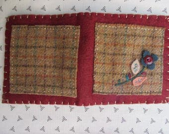 Needle Book/Handmade Needle Holder/Wool Needle Book