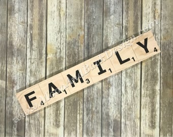 Wooden Tile FAMILY Sign
