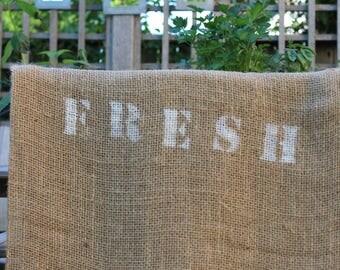 Burlap bags- A sense of France