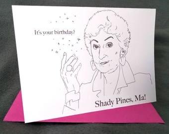 May 13th - Bea Arthur - Born on Your Birthday Card