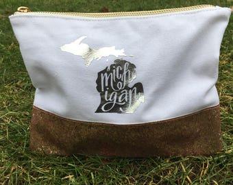 Glitter Bottom Michigan Makeup Bag