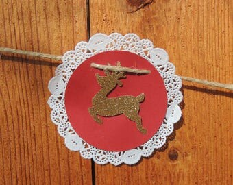 Reindeer Banner, Christmas Banner, Rustic Christmas, Christmas Garland, Holiday Banner, Rudolph Banner, Winter Decorations, Holiday, Decor