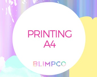 Printing for any A4 design in the store