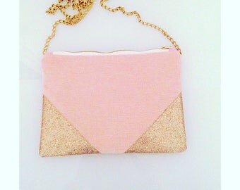 Pale pink and gold cover