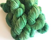 Malachite Hand Dyed Cashmere Fingering Weight Yarn for Knitting or Crochet