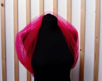 etole ,  shwal , bridal shwal ,   fuchsia shawl , bridal cover up,