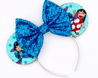 The Luau - Handmade Lilo & Stitch Inspired Mouse Ears Headband