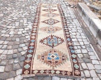 145 x 39 inches  Beautiful MidCentury Oushak Rug from Turkey Rug
