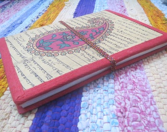 Handmade Cotton Cover Up Diary, Handmade Blank Paper Notebook, Daily Planner, Book Binders Journals Notebook, Art Book , Sketch Book