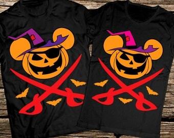 Disney Halloween couple shirts, Disney Pirate shirt, Disney cruise couple shirts, Halloween Disney couple shirts, Cruise pirate night shirts