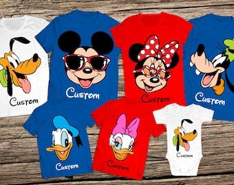 Disney character family shirts, Disney family trip shirts, Disney family shirts, Disney group shirts, Disney family vacation shirts, Disney