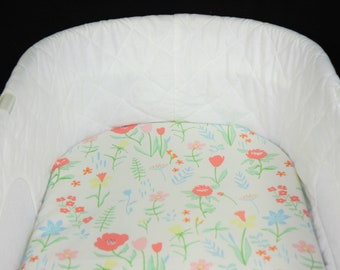 Bassinet Sheet - Spring Flowers - Moses basket sheet