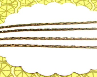 1m snake-like 0,8mm chain bronze coloured, chain for bracelets and necklaces, chain for beads, CHB02