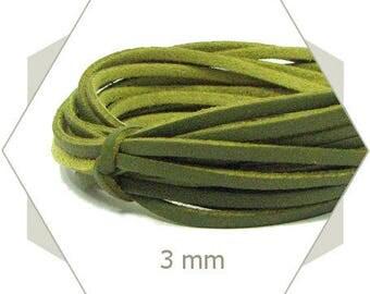 1 m cord faux leather 3 mm khaki CP13