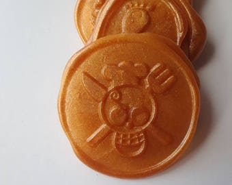 "One Piece anime wedding party invitation self adhesive wax seal peel sticker 1"" x5"