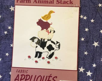 Farm Animal Stack Fabric Appliqués Made in USA
