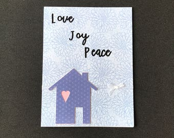 Handmade New Home Card, Die Cut Cards, Handmade Cards
